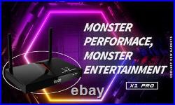 MonsterBox X1 Pro 2GB Ram 16GB Media Player, 6K Android 9.0 TV Dual-Band Wi-Fi