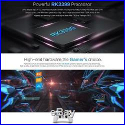 N6MAX Android 7.1 Smart TV BOX 4K Quad Core 4+32GB HD 1080P Dual Band WiFi Media