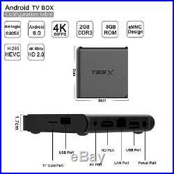 NEW! 2G+8G/16G 4K S905X T95X Smart TV Box Android 6.0 Quad Core Loaded LOT 5/10