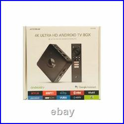 NEW JETSTREAM AGT418 4K ULTRA HD ANDROID TV BOX with VOICE SEARCH REMOTE FREE S&H