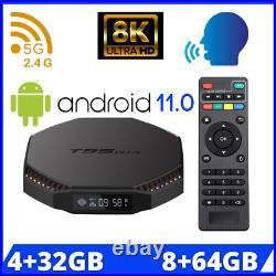 NEW T95 Plus Smart tv box Android 11 2.4G/5G Wifi RK3566 Quad Core 8GB RAM 64GB