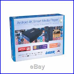 New Laser Multi Media Tv Box 4K Player With Keyboard Air Mouse MMC-P20PLUS