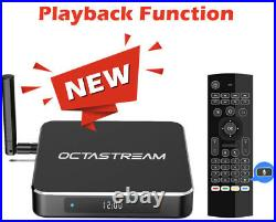 Octastream Q1 ELITE Android Box withLive Tv Latest Model withPlayBack & Voice Remote