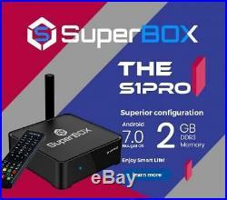 SUPERBOX S1 PRO Android TV BOX 6K PROGRAMACION EN ESPAñOL APP (SIN PAGO MENSUAL)