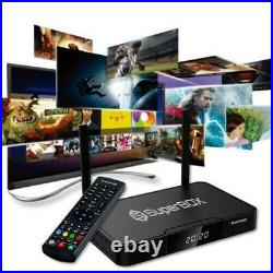 SUPERBOX S2 PRO ANDROID TV BOX Wi-Fi Playback on Sports. FREE AIR TV REMOTE