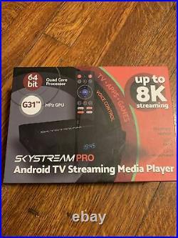 SkyStream Pro 4K HDR Android Streaming Media Player Smart TV Media Streaming