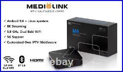 Smart TV Android TV Box Medialink M9 5G (2GB + 16GB) Box 3D 4K-8K Dual