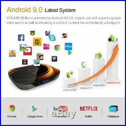 Smart TV BOX Android 9.0 Wifi 2020 VONTAR X3 4GB 128GB 8K TVBOX Amlogic S905X3