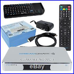 StreamSmart S5 4K Smart TV Box XBMC Android KitKat 4.4 Quad Core HD IPTV Bundle
