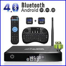 Streaming TV Box XB-III Quad Core 8GB Wifi 4k HD Android 7.1 2018 KEYBOARD GIFT
