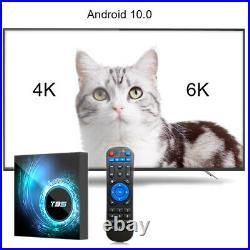 T95 6K Smart TV BOX Android 10 CORE 4GB+128GB 2.4 5G WIFI HDMI 3D Media Streamer