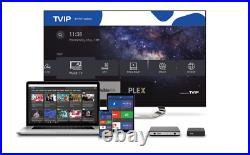 TVIP V. 605 TV Box 4K Quad Core Linux Box HD Set-Top Box 2.4/5Ghz WIFI TVIP Box