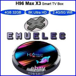 Tv box amlogic 905X3 Emuelec 4Gb Ram + 64gb micro sd