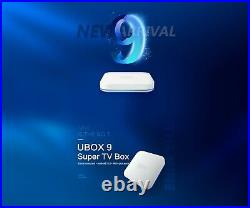 UBOX9 PRO MAX Super TV Box. European authorized 9