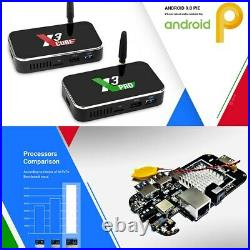 UGOOS X3 Plus TV Box Android 9.0 4GB/64GB DDR4 WiFi 4K 2020 Edition US Plug