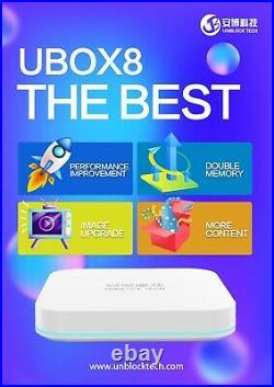 UNBLOCK TECH 2021 NEWESTUBOX8 PRO MAX 4+64G Gen8 Android 6K BEST TV BOX