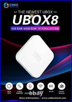 UNBLOCK TECH 8 NEWEST UBOX8 4+64G Gen 8 TV BOX