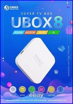 UNBLOCK TECH UBOX8 PRO MAX Android 4K TV Box Channels GEN8
