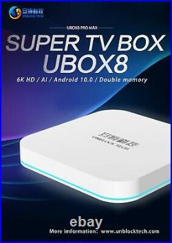 Unblock Tech 8 MT TECHNOLOGY UBOX8 PRO MAX OS Gen8 TV Box 4GB+64GB 4K