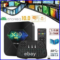 X10mini 6K TV Box Android10.0 Quad Core 8/16GB WIFI Box Support TF Card LOT N3A5