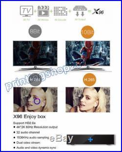X96 Android TV BOX 2+16GB Quad Core S905 WIFI HD 4K Media Player H. 265 +Keyboard