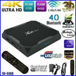 X96 MAX Android 9.0 TV Box 4GB+64GB HD Media Player Netflix Prime Video Disney