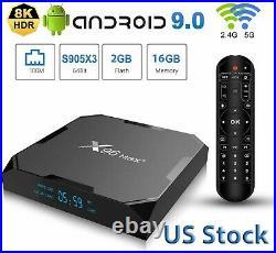X96 Max Plus Smart TV BOX S905X3 Quad-core Android9.0 Media 8K 4K WiFi 2G+16GB