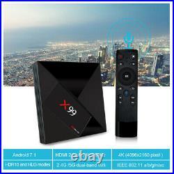 X99 TV Box Android 7.1 RK3399 4GB+32GB 2.4G/5G Dual WIFI H. 265 4K Top Box Type-C