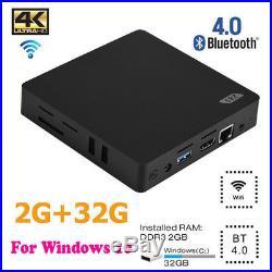 Z83-V Z8350 Mini PC Quad Core Media Player TV Box 2G+32G For Android Windows 10