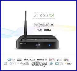 ZIDOO X8 RTD1295 Quad Core 4K Android 6.0 Smart TV BOX Media Player HDMI Mini PC